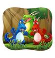 Dragons vector image vector image