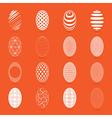 Easter eggs on a orange background vector image