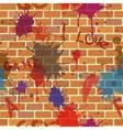 seamless dirty brick wall graffiti paint vector image