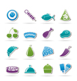 different kind of food icons vector image vector image