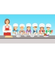 Kids cooking class flat vector image