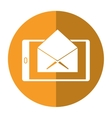 cellphone message email envelope shadow vector image