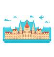 flat design budapest parliament vector image
