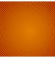 Halftone Pattern Dots on Orange Background vector image