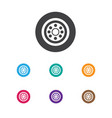 of vehicle symbol on wheel vector image