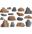 rocks and stones icons building mineral vector image