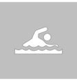 Swimming computer symbol vector image