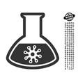 virus analysis icon with work bonus vector image