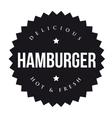 Hamburger vintage black stamp vector image
