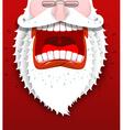 Angry Santa Claus shouts Unhappy Santa with big vector image