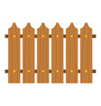 wooden fence icon isolated vector image