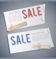 vintage sale horizontal banners vector image