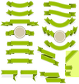 Set of empty ribbons and banners of different vector image