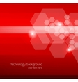 Abstract red background with hexagons vector image vector image