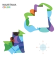 Abstract color map of Mauritania vector image vector image