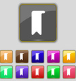 bookmark icon sign Set with eleven colored buttons vector image