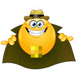 flasher emoticon vector image vector image