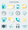 16 gas station icons Fuel icons Stickers vector image