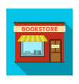 bookstore icon in flat style isolated on white vector image