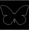 butterfly the white path icon vector image