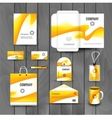 Corporate brand Business identity design Template vector image