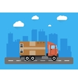 Delivery truck concept vector image
