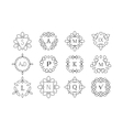 Line art logo templates vector image