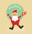 merry christmas santa gift card background graphic vector image