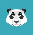 panda sad emoji chinese bear sadness emotion vector image