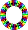 round piano keyboard frame vector image