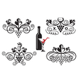 grape ornaments set vector image vector image