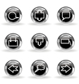 Glossy icon set 34 vector image vector image