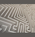 Isometric intricacy labyrinth maze background 3d vector image