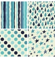 A set of four seamless patterns vector image