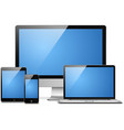 laptop tablet desktop mobile vector image
