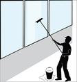 Large window washer vector image vector image
