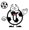 Funny cartoon number zero in football or soccer vector image