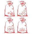 valentine symbol on bag set vector image vector image