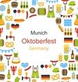 Oktoberfest Border Frame vector image