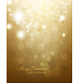 Elegant Gold Christmas Background vector image