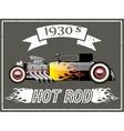 Hot rod car vector image