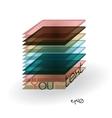 Multicolor abstract logo rectangle vector image
