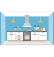 Kitchen wall interior vector image