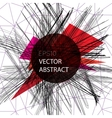 Abstract background with chaotic lines vector image