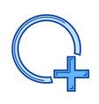 add shape line icon vector image