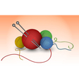 Balls of wool vector image