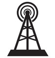 Communication tower icon isolated in white vector image