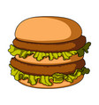 hamburger single icon in cartoon stylehamburger vector image