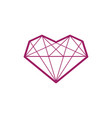 heart logo template love abstract wireframe heart vector image