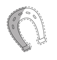 horseshoe equine or luck icon image vector image